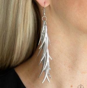 Tasseled Talons Silver Earrings